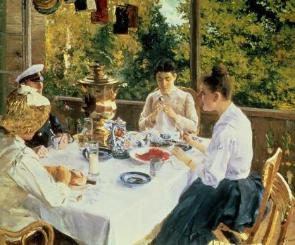 Konstantin Korovin - At the Tea-Table