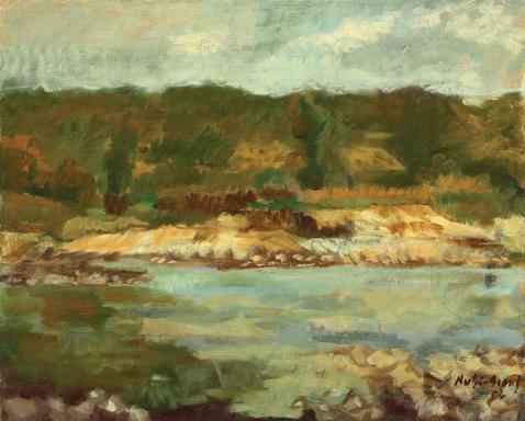Nutzi Acontz - Peisaj cu râu