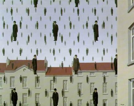 René Magritte - Golconde