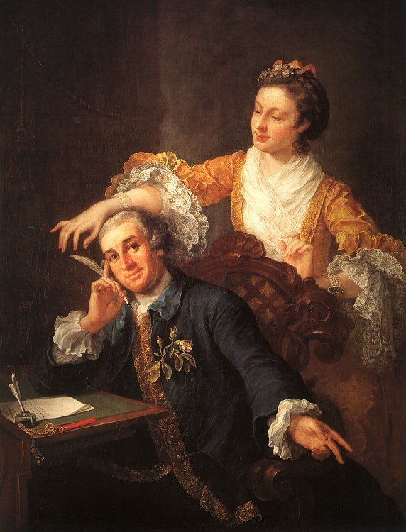 William Hogarth - David Garrick and His Wife