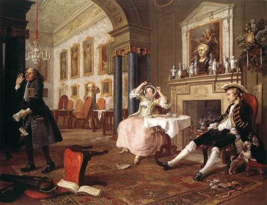 William Hogarth - Marriage à-la-mode, 2. The Tête à Tête