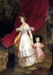 Karl Briullov -  Elena Pavlovna with her daughter Maria