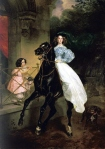 Karl Briullov - Lady on Horseback