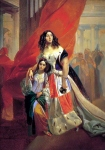 Karl Briullov - Portrait of Countess Julia Samoilova, moving away from the ball with the stepdaughter Amatsiliey Pachchini