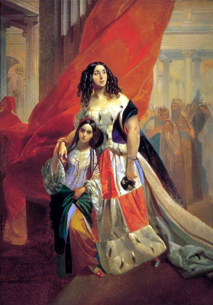 http://g1b2i3.files.wordpress.com/2010/12/karl-briullov-portrait-of-countess-julia-samoilova-moving-away-from-the-ball-with-the-stepdaughter-amatsiliey-pachchini.jpg