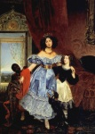 Karl Briullov - Portrait of Julia Samoylova with Giovannina Pacini and black boy.