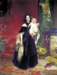 Karl Briullov - Portrait of Mariya Arkadyevna Bek with her Daughter