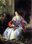 Karl Briullov - Portrait of  Princess Elizabeth Saltykov
