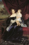Karl Briullov - Portrait of the Princess Olga Ivanovna Orlova-Davydova with her daughter Natalya Vladimirovna
