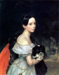 Karl Briullov - Portrait of William M. Smirnova