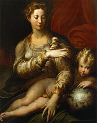 Parmigianino - Madonna with the rose
