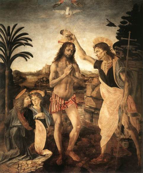 Andrea del Verrocchio - The Baptism of Christ
