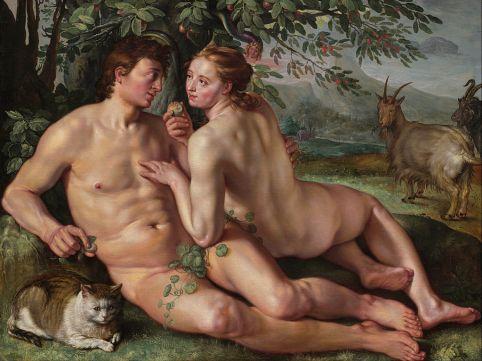 Hendrik Goltzius - The Fall of Man - Google Art Project