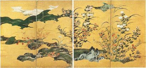 Kano Eitoku - Flowers