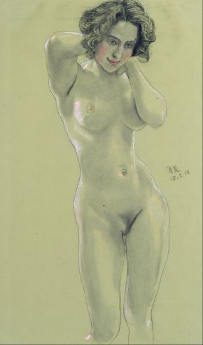 Max Klinger - Female Nude - Google Art Project