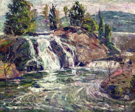 Ernest Lawson - Waterfall