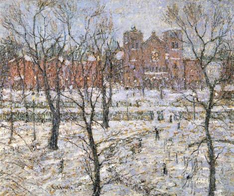 Ernest Lawson - Stuyvesant Square in Winter