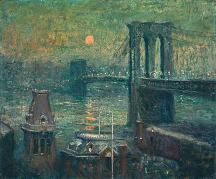 Ernest Lawson - Brooklyn Bridge, 1917-20