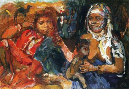 Oskar Kokoschka - Arab Woman and Child, 1929
