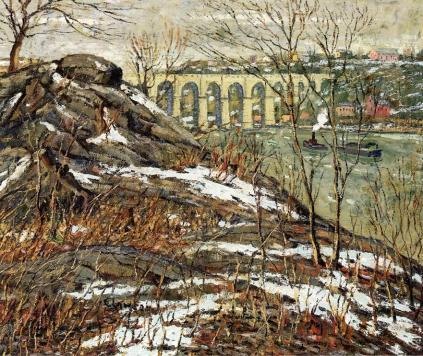 Ernest Lawson - Harlem River in Winter