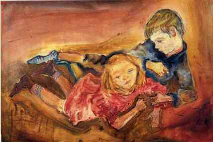 Oskar Kokoschka - Children playing, 1909