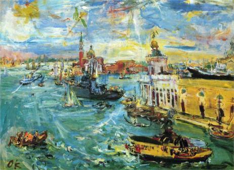 Oskar Kokoschka - Venice Dogana, 1948