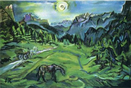 Oskar Kokoschka - Dolomite Landscape, Tre Croci
