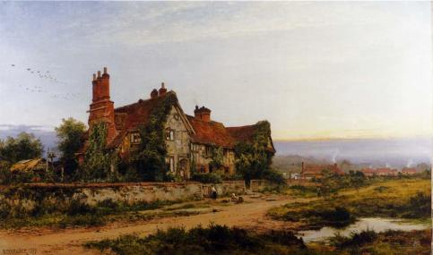 Benjamin Williams Leader - An Old Surrey Home