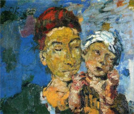 Oskar Kokoschka - Mother and Child, 1921