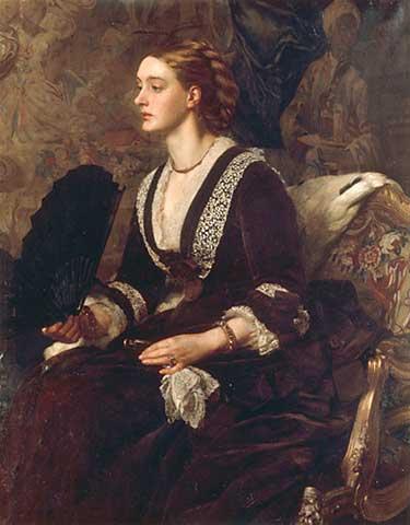 Edward Poynter - A Portrait of Mrs Archibald Milman