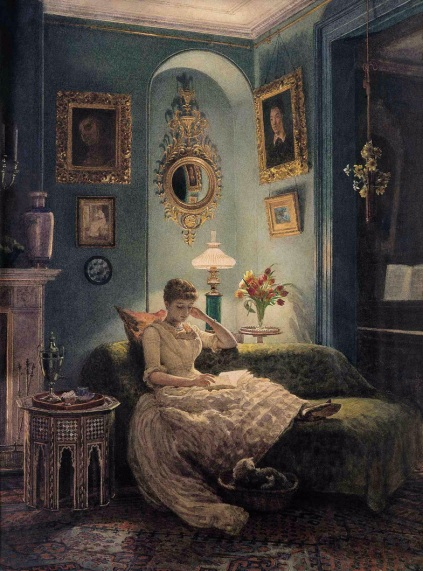 Edward Poynter - Evening at Home