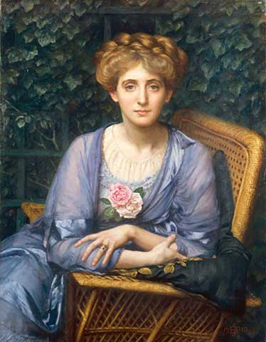 Edward Poynter - Portrait of Lady Markham
