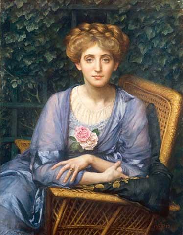 Edward Poynter - Portrait of Lady Markham