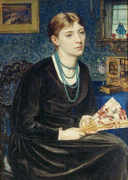 Edward Poynter - Portrait of Louise A. Baldwin