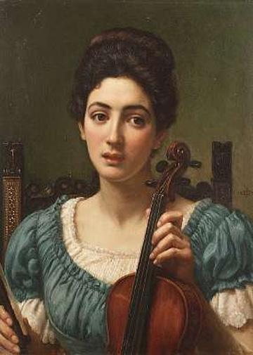 Edward Poynter - The Violinist