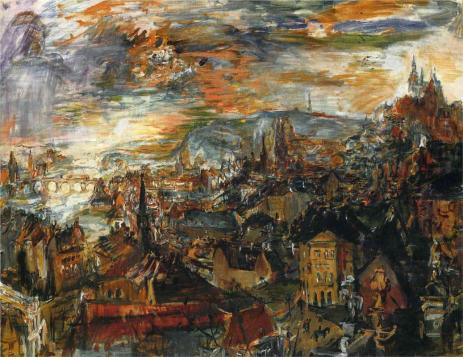 Oskar Kokoschka - View of Prague, 1934