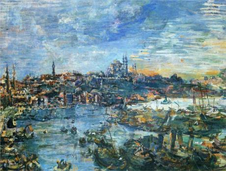 Oskar Kokoschka - View of Constantinople, 1929