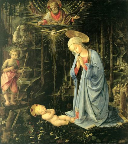 Fra Filippo Lippi - The Adoration in the Forest - Google Art Project