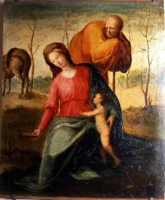 Domenico Beccafumi - Flight into Egypt