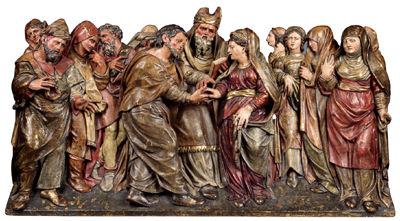 Alonso Berruguete - Mystical marriage of Joseph and Mary