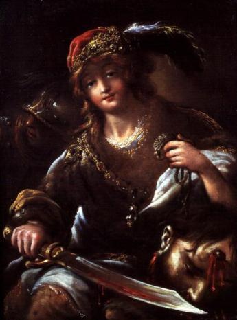 Claude Vignon - David with the Head of Goliath.