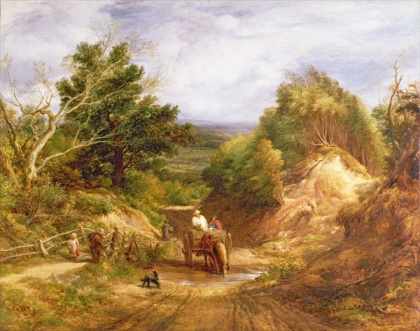 John Linnell - Crossing the Brook