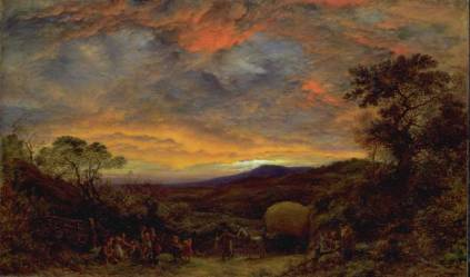 John Linnell - Harvest Home, Sunset. The Last Load