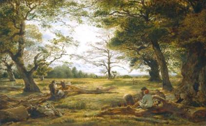 John Linnell - Windsor Forest (`Wood-Cutting in Windsor Forest')
