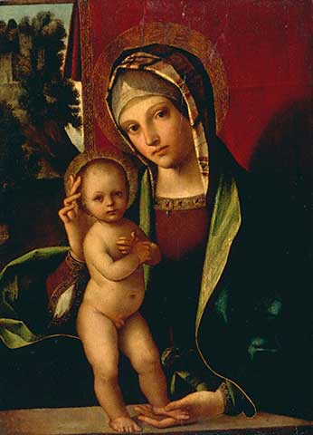Boccaccio Boccaccino - Mary with the Child