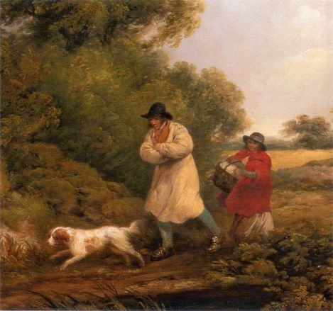 George Morland - A Windy Day