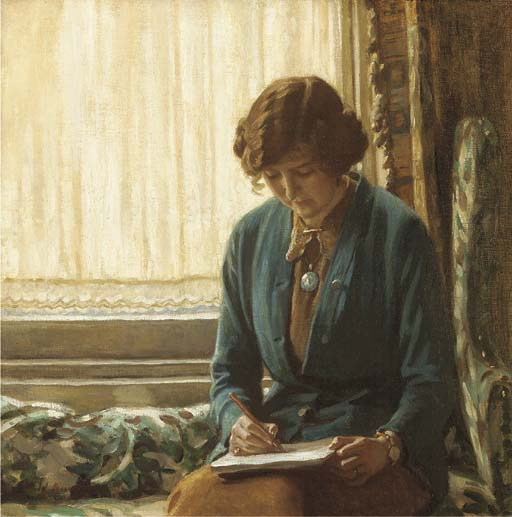 Harold knight – portrait of dame laura knight sketching