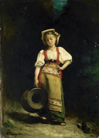 Léon Bonnat - Italian Girl with a Jug
