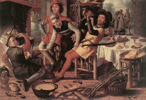 Pieter Aertsen - Peasants by the Hearth