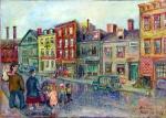 David Burliuk - A street scene